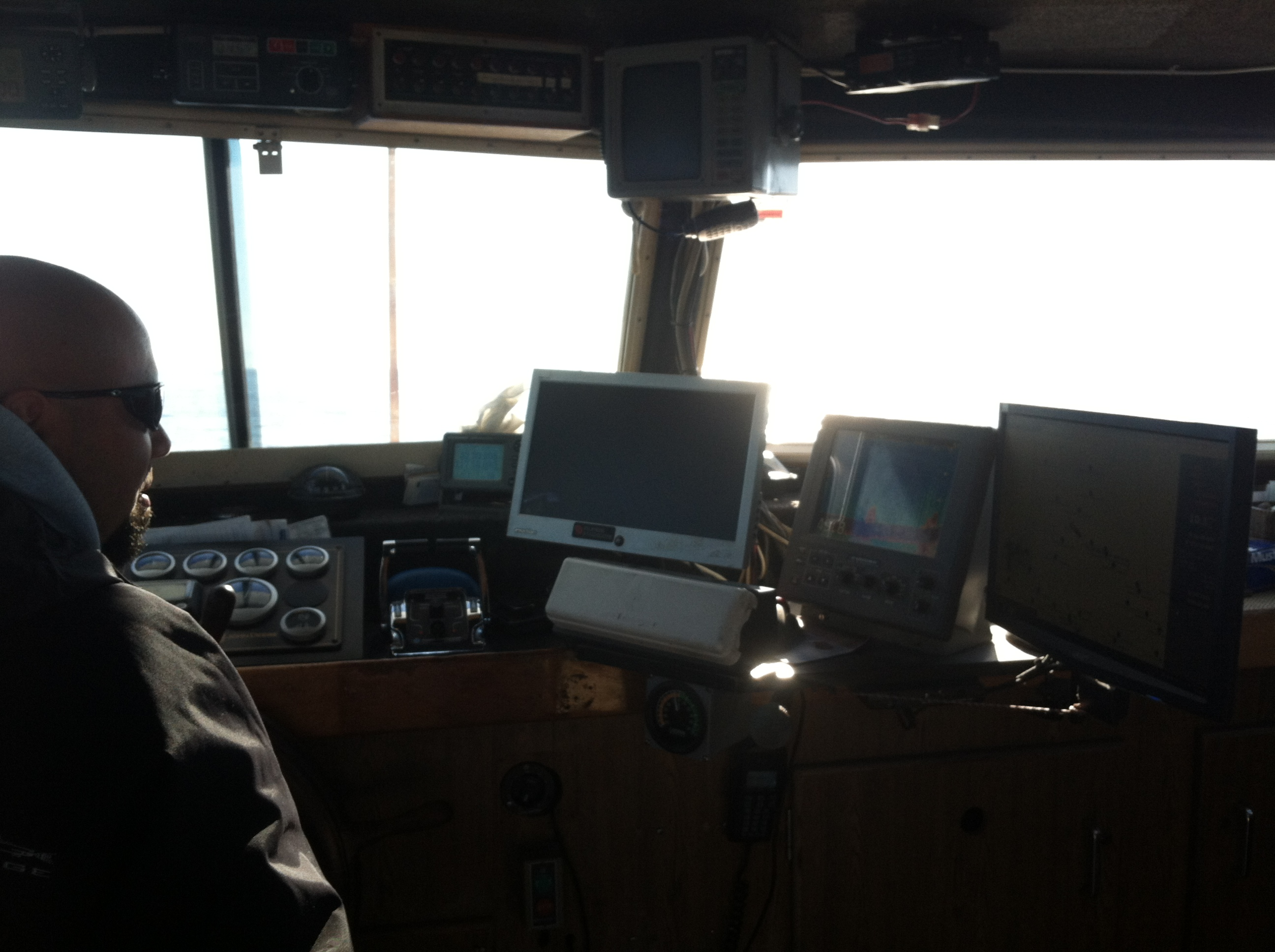 Capt. Ryan at the helm of the SD